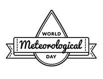 Эмблема приветствию дня мира метеорологическая Стоковые Изображения RF