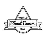 Эмблема приветствию дня донора мира Стоковое Изображение