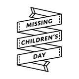 Эмблема приветствию дня отсутствующих детей Стоковые Фото