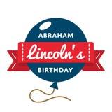 Эмблема приветствию дня рождения Авраама Lincolns Стоковое фото RF