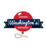 Эмблема приветствию дня рождения ` s Джорджа Вашингтона Стоковая Фотография RF