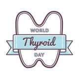 Эмблема приветствию дня тиреоида мира Стоковая Фотография RF