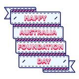 Эмблема приветствию дня учреждения Австралии Стоковая Фотография
