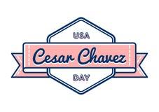 Эмблема приветствию дня Cesar Chavez Стоковая Фотография RF