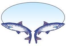 Эмблема рыбной ловли Стоковые Изображения RF