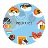 Эмблема страхования Стоковое Изображение