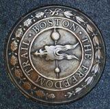 Эмблема следа свободы Бостона стоковые изображения