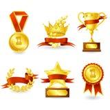 Эмблема трофея и приза иллюстрация вектора