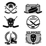 Эмблема хоккея на льде и комплект логотипа Стоковые Фотографии RF