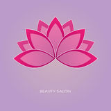 Эмблема цветка лотоса Иллюстрация штока