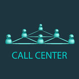 Эмблема центра телефонного обслуживания, дизайн логотипа сервисной поддержки custumer Стоковые Фото