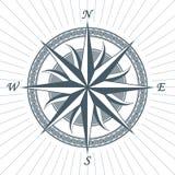 Эмблема ярлыка знака компаса винтажной старой античной розы ветра морская Стоковое Изображение RF