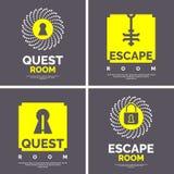 Эмблема для комнаты поисков Стоковая Фотография
