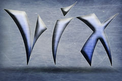 Эмблема VIX Стоковые Изображения RF