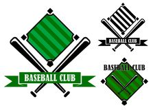 Эмблемы или значки клуба бейсбола Стоковые Изображения RF