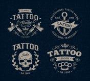 Эмблемы студии татуировки Стоковое Изображение