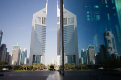EmiratesTowers, DIFC, Дубай, UAE Стоковая Фотография