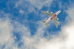 эмираты a380 airbus Стоковая Фотография
