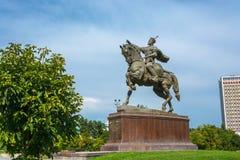 Эмир Timur памятника в Ташкенте, Узбекистане Стоковое Фото
