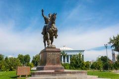 Эмир Timur памятника в Ташкенте, Узбекистане Стоковая Фотография RF