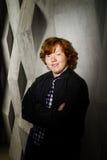 Эмотивный портрет рыжеволосого freckled мальчика, концепции детства стоковые изображения rf