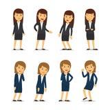 Эмоции бизнес-леди Стоковое Изображение