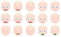 Эмоции младенца Стоковое Изображение