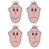 Эмоции человеческих лиц Стоковое фото RF