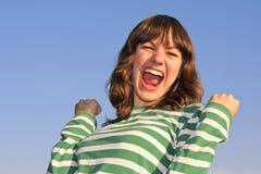 эмоциональная девушка предназначенная для подростков очень Стоковые Изображения