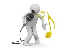 эмоциональная певица Стоковые Фотографии RF