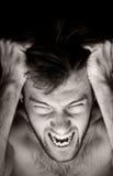 эмоциональное фото человека Стоковое Фото