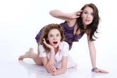 эмоциональные женщины молодые Стоковое Фото