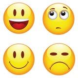 Эмоциональные счастливые грустные стороны стоковые изображения