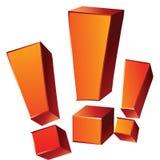 3 эмоциональных оранжевых восклицательного знака изолированного на белом backg Стоковые Фото