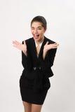 Эмоциональная бизнес-леди Стоковые Фотографии RF