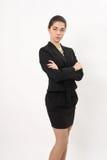 Эмоциональная бизнес-леди Стоковые Фото
