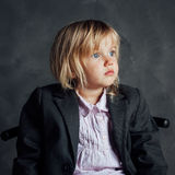 эмоциональная девушка меньший портрет Стоковое Фото