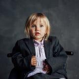 эмоциональная девушка меньший портрет Стоковая Фотография RF