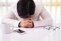 Эмоциональный стресс, банкротство, финансы Стоковые Изображения RF