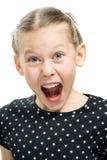Эмоция, девушка кричащая Стоковые Изображения RF