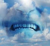 Эмоция ража гнева стоковые фотографии rf