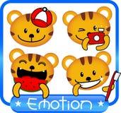 Эмоция тигра милая Стоковое Фото