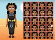 Эмоция шаржа платья черноты Египта смотрит на иллюстрацию вектора Стоковое Фото