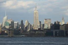 Эмпайр Стейт Билдинг и горизонт NYC, Нью-Йорк, Нью-Йорк, США Стоковые Фотографии RF