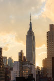 Эмпайр Стейт Билдинг на заходе солнца - Нью-Йорк Стоковые Фотографии RF