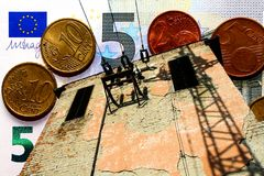 Энергетический кризис - энергетическая политика - поднимая стоимости энергии Стоковые Фото