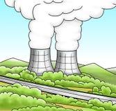 энергетический ядерный реактор Иллюстрация вектора