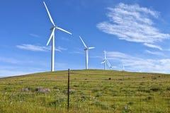 Энергия ветра восточный Вашингтон. Стоковое Фото
