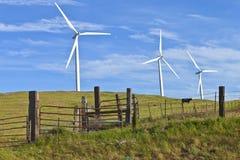 Энергия ветра восточный Вашингтон. Стоковые Изображения RF