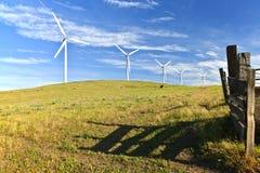 Энергия ветра восточный Вашингтон. Стоковое Изображение RF